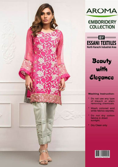 Aroma Chiffon Dresses - Embroidered Chiffon Dupatta - Replica - Unstitched