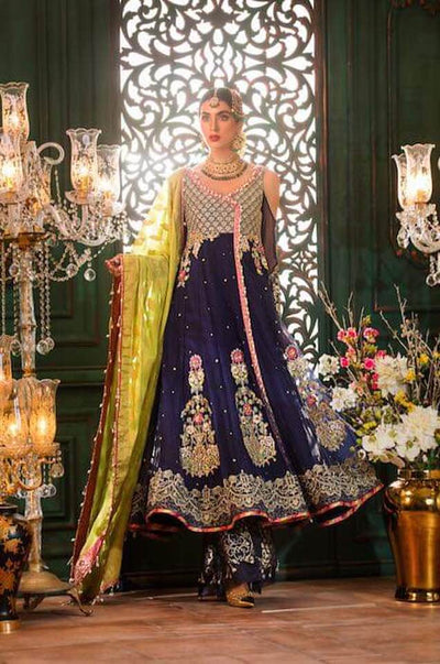 Sadia Asad Chiffon Dresses - Embroidered Mysoori Dupatta - Replica - Unstitched