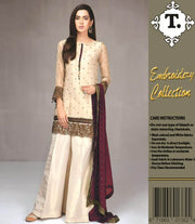 Maria B Mysorie Dresses - Embroidered Chiffon Dupatta - Replica - Unstitched