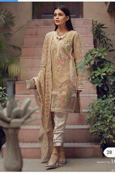 Alkaram Chiffon Dresses - Embroidered Chiffon Dupatta - Replica - Unstitched