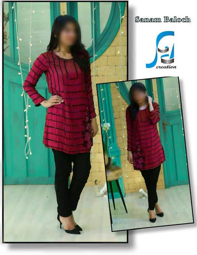 Sanam Baloch Lawn Kurti Collection - Replica - Unstitched