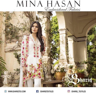 Mina Hasan Chiffon Dresses - Embroidered Chiffon Dupatta - Replica - Unstitched