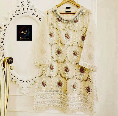 Agha Noor Organza Embroidered Kurti Collection - Replica - Unstitched