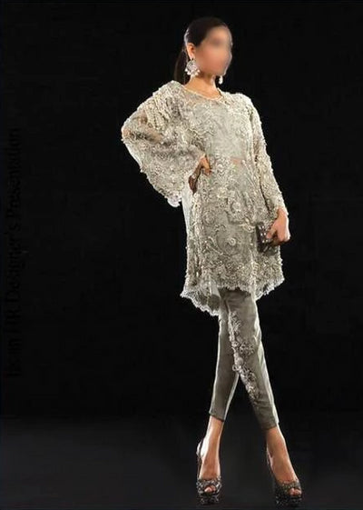 Sana Safinaz Net Dresses - Embroidered Net Dupatta - Replica - Unstitched