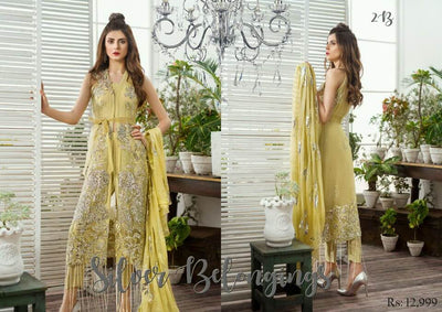 Asifa & Nabeel Chiffon Dresses - Embroidered Chiffon Dupatta - Replica - Unstitched