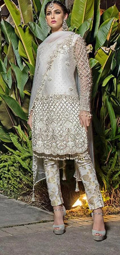 Al Haram Net Dresses - Embroidered Net Dupatta - Replica - Unstitched