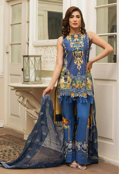Party Wear Khaddar Dresses - Printed Pashmine Wool Shawl - Replica - Unstitched
