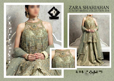 Zara Shahjahan Mysoori Dresses - Embroidered Mysoori Dupatta - Replica - Unstitched
