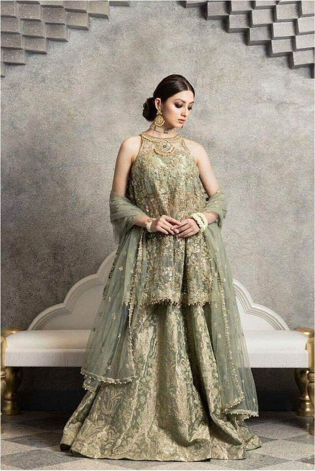 Zara Shahjahan Mysoori Dresses - Embroidered Net Dupatta - Replica - Unstitched