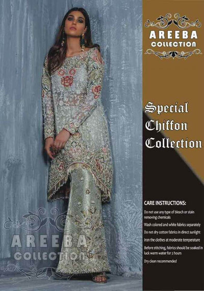Annus Abrar Net Dresses - Embroidered Net Dupatta - Replica - Unstitched