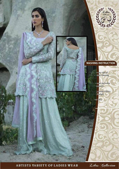 Zainab Chottani Net Dresses - Embroidered Net Dupatta - Replica - Unstitched