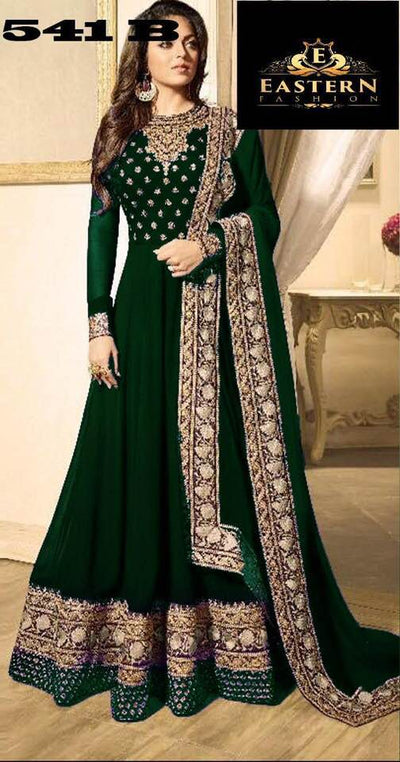 Indian Chiffon Maxy - Embroidered Chiffon Dupatta - Replica - Unstitched