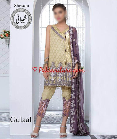 Gulaal Cotton Dresses - Embroidered Cotton Dupatta - Replica - Unstitched