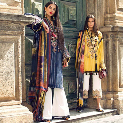 Elan Lawn Dresses - Digital Printed Silk Dupatta - Replica - Unstitched