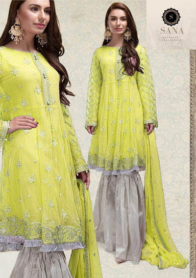 Maria B Cotton Dresses - Embroidered Chiffon Dupatta - Replica - Unstitched