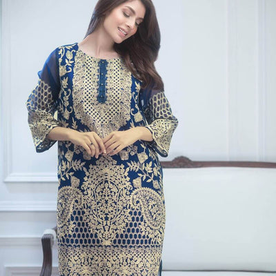 Agha Noor Chiffon Dresses - Replica - Unstitched