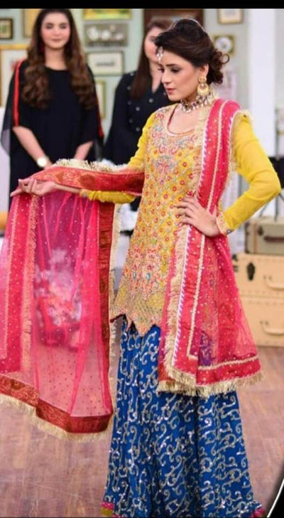 Kashee's Chiffon Dresses - Embroidered Chiffon Dupatta - Replica - Unstitched