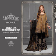 Maria B Silk Dresses - Embroidered Chiffon Dupatta  - Replica - Unstitched