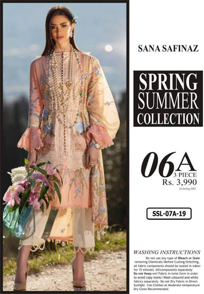 Sana Safinaz Collection Fabric Lawn Printed - Replica - Unstitched