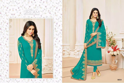 Indian Chiffon Dresses - Embroidered Chiffon Dupatta  - Replica - Unstitched