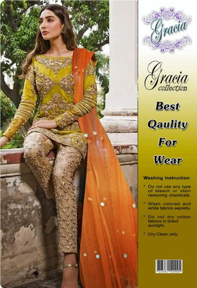 Aisha Imran Mysoori Dresses - Embroidered Net Dupatta  - Replica - Unstitched