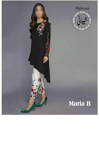 Maria B Cotton Dresses - Broshia Net Dupatta - Replica - Unstitched