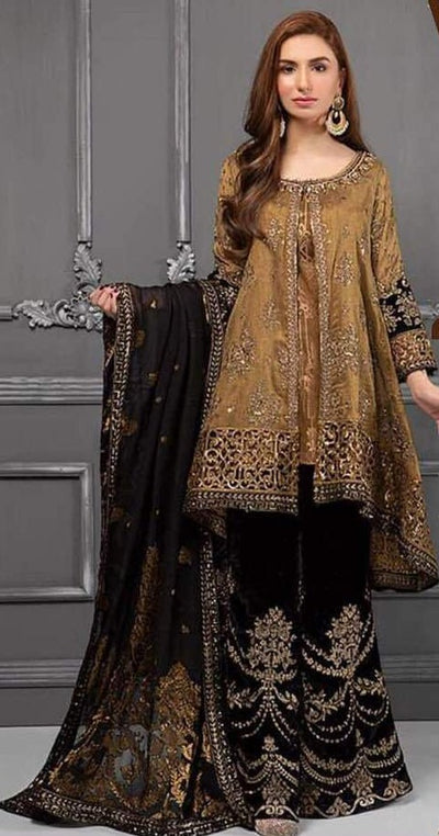 Maria B Mysoori Dresses - Embroidered Chiffon Dupatta  - Replica - Unstitched