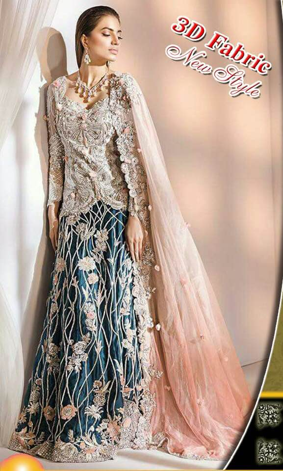 Elan Net Dresses - Embroidered Net Dupatta - Replica - Unstitched