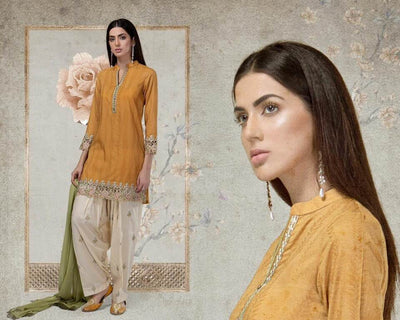 Maria B Khaddar Dresses - Printed Wool Shawl Dupatta - Replica - Unstitched