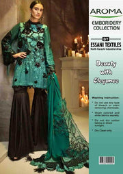 Party Wear Chiffon Dresses - Embroidered Net Dupatta - Replica - Unstitched