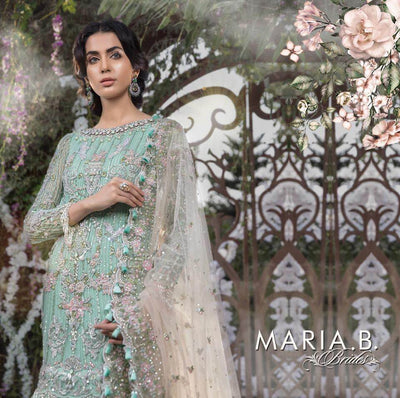 Maria B Net Dresses - Embroidered Net Duppata - Replica - Unstitched