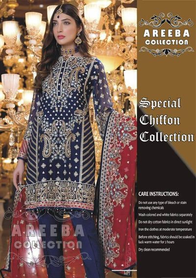 Maryam N Mariya Chiffon Dresses - Embroidered Chiffon Dupatta - Replica - Unstitched