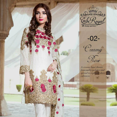 Party Dresse Restock Alert  Embroidered Royal Luxury Chiffon Replica