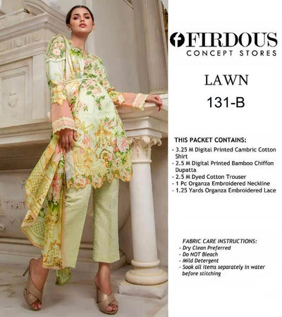 Firdous Party Dress -Replica -Unstitched
