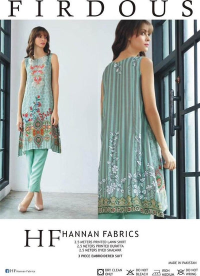 FIRDOUS Party Dress Lawn Collocation - Replica - Unstitched