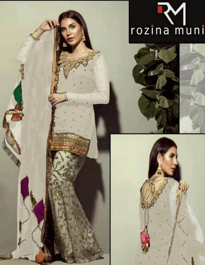 ROZINA MUNEEB Chiffon Collection (Replica)(Unstitched)