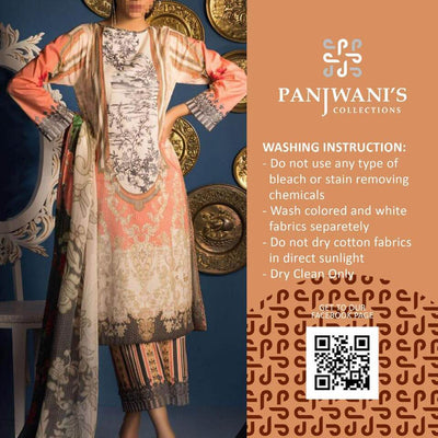 Panjwani'S Collection sapphire lawn collection - Replica - Unstitched