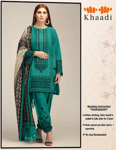 Khaddi Lawn With Chiffon Dupatta - Replica - Ustitched