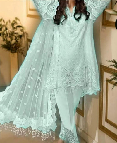Anaya Fabric Chiffon & Net Luxury Festive Collection - Replica - Unstitched