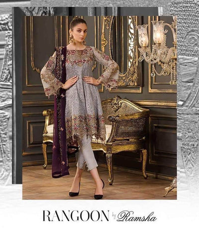 Ramsha Chiffon Collection Replica - Unstitched