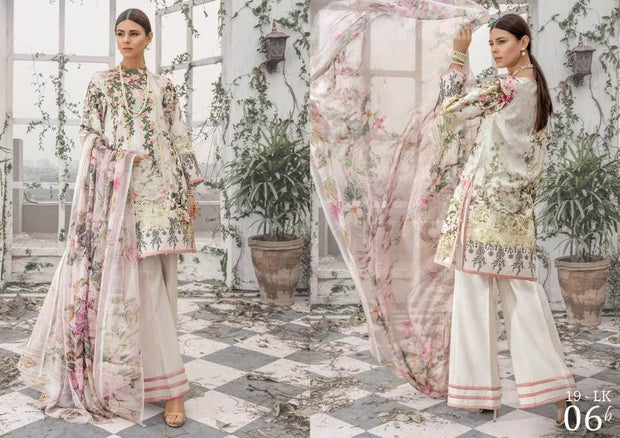 Firdouse collection Fabric Lawn Dupatta Chiffon Print - Replica - Unstitched