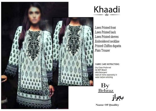 KHAADI Lawn COLLECTION  Replica - Unstitched
