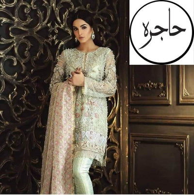 Mina hasan Net COLLECTION  Replica - Unstitched