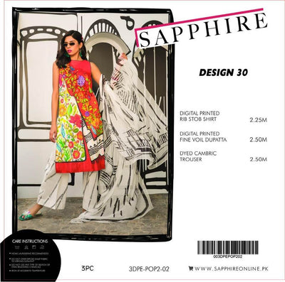 SAPPHIRE Lawn  COLLECTION  Replica - Unstitched