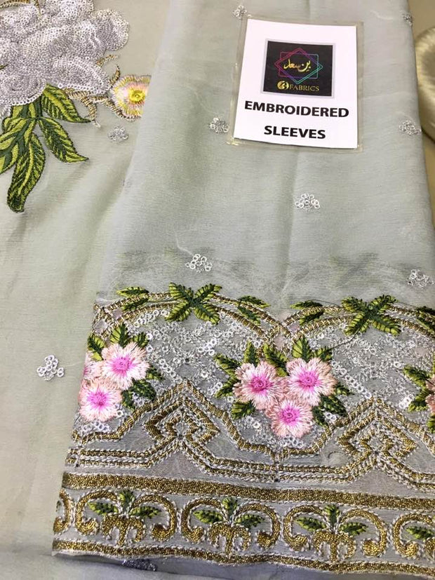 Afrozeh Chiffon COLLECTION  Replica - Unstitched