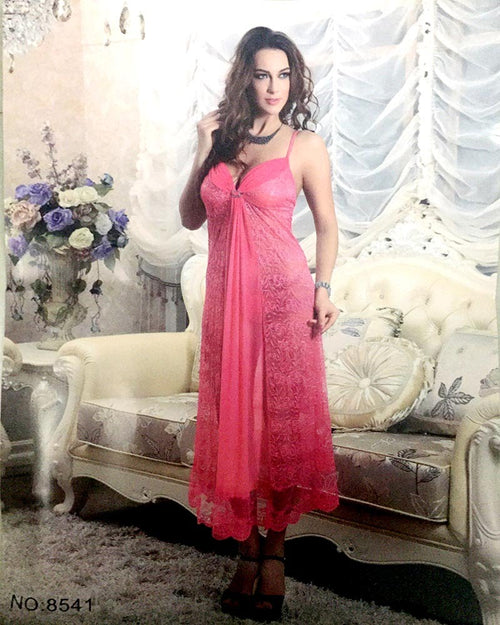 Sexy Wedding & Honeymoon Long Nighty - 8541