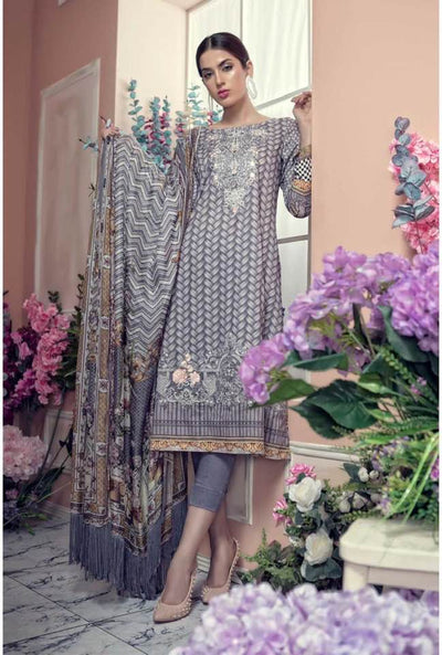Aayra Collection Now Available Embroidered Border For Front Fabric Lawn With Chiffon Dupatta - Replica - Unstitched