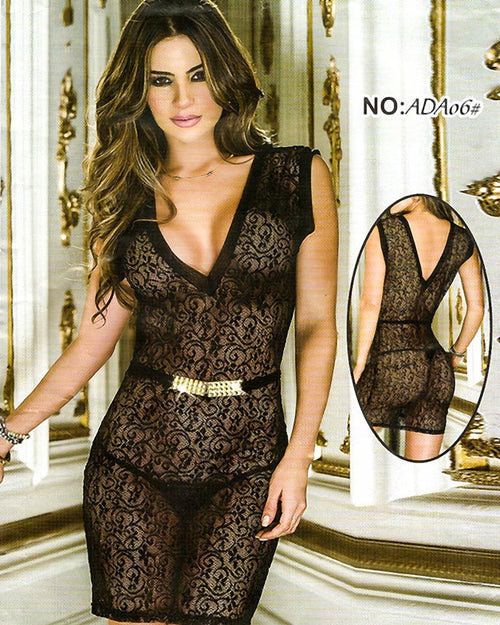 Bridal Sexy Transparent Short Lace Nighty - ADA06