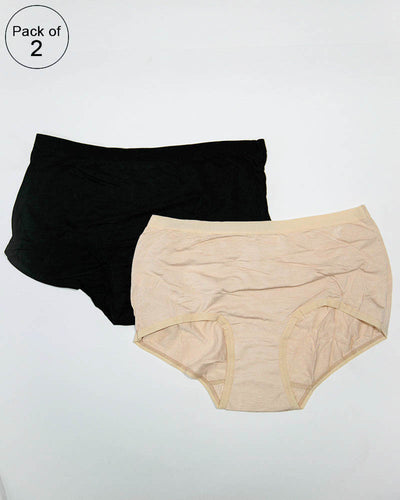 Pack of 2 Womens Plain Panties – AF-121 – Mix Colors