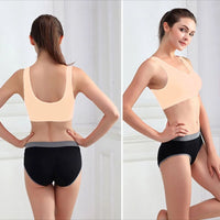 Stretchable Sports Bra - Aire Bra - 2B-101 - Peach - Bras - diKHAWA Online Shopping in Pakistan